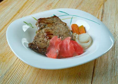 Fijian Curried Corned Beef traditional dish in Fiji, Oceania Stock Photo
