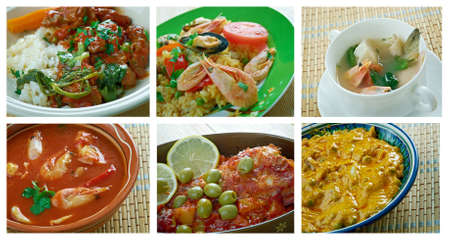 olla:  Food set . southern food.Latin American cuisine Stock Photo