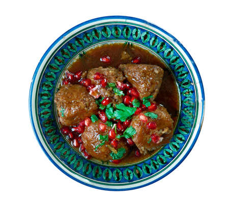 kabab: Kebab karaz - Sour Cherry Kabab .Arabic special kind of kebab, which is made with minced lamb and cherry