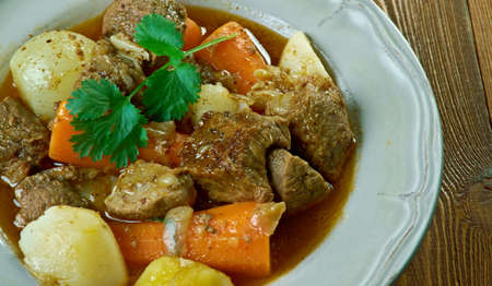 Boeuf a la mode -  French version of what is known in the United States as pot roast,braised beef dish, Stock Photo