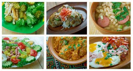 European cuisine.Food set  Stock Photo