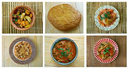 Food set African traditional cuisine.collage Reklamní fotografie - 67568436