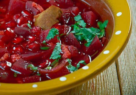 Shorbat Rumman Iraqi Pomegranate Stew