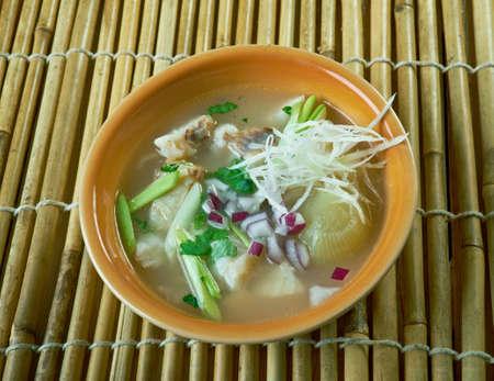 Tekwan  fish soup typical of Palembang, Indonesia
