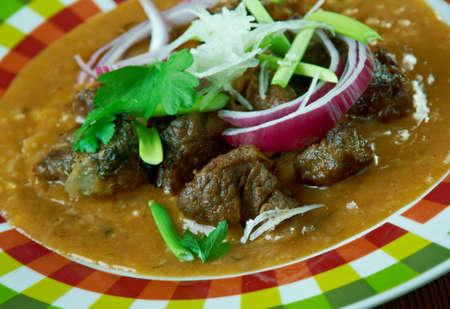Red Iguana deliciosa comida mexicana Foto de archivo - 67855908