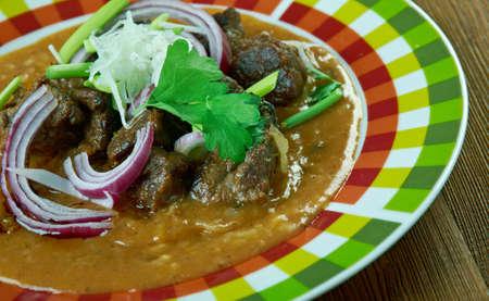 Red Iguana deliciosa comida mexicana Foto de archivo - 67862315