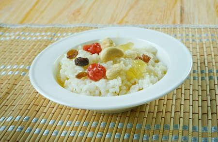 Chakara pongali rice-   sweet Pongal rice from South India Stock Photo