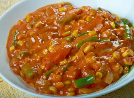 Corn Capsicum Masala Recipe  -  Side Dish For Chapati,Pulao