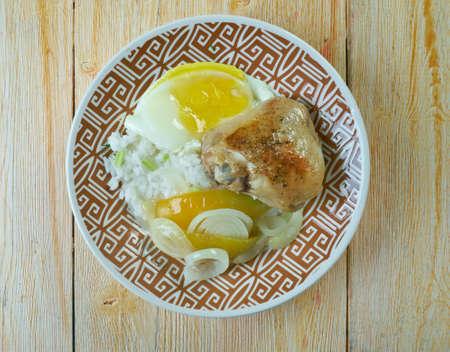 singaporean: Hainanese curry rice -  Chinese Singaporean dish Stock Photo