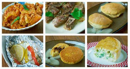 Food set . southern food.Latin American cuisine Stock Photo