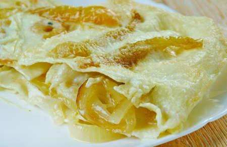 close uo: Vegetable Lasagna close uo - Italian Cuisine Stock Photo