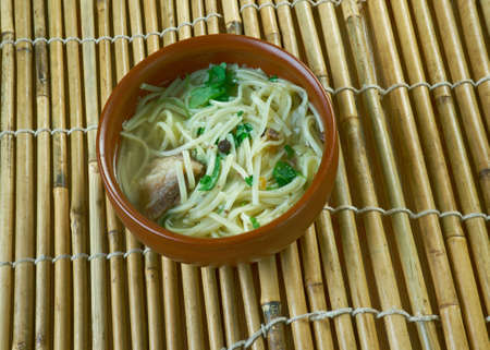 kyrgyzstan: Kesme -  traditional Central Asian noodle dish.