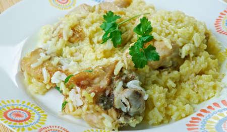Djaj Fouq El-Eis  - Chicken Dish From Oman.