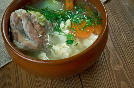 campesinas: zatiruha - Russian peasant soup with the dough