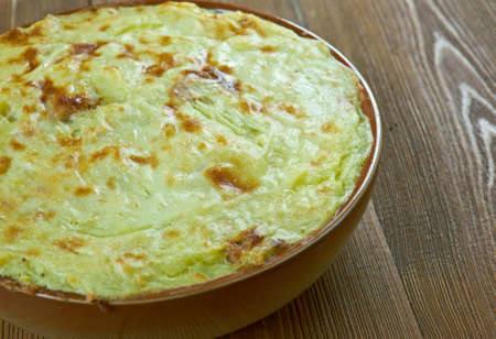 Tunisian Potato-Meat Pie.African cuisine. Stock Photo