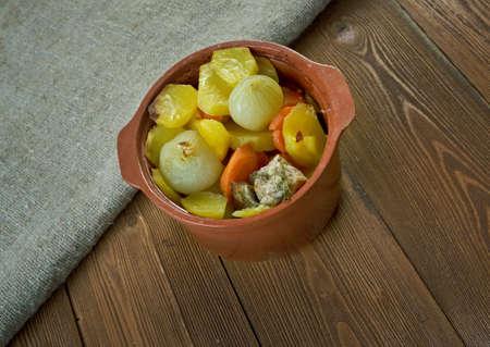 Alsatian Meat Stew  - Bacheofe Stock Photo