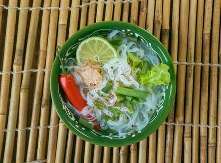 Lao Rice Noodle Soup - Foe
