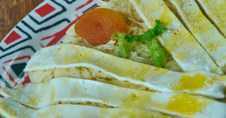 Balaleet - Sweet Vermicelli and Eggs. traditional breakfast in the United Arab Emirates,