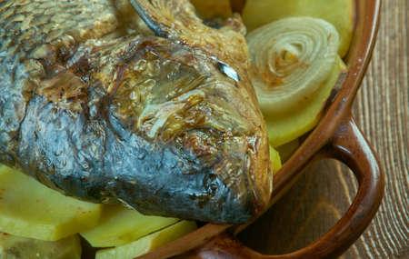 Bar a la Monegasque sea bass baked potatoes