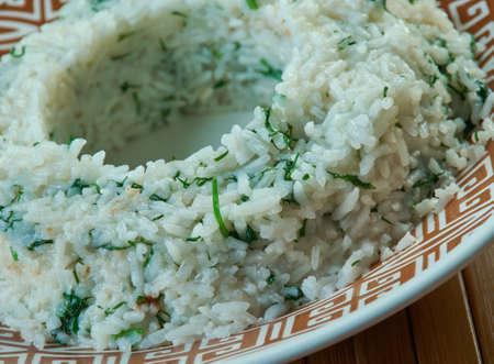 Taze Otlu Pilav Tarifi.Pilaf with fresh herbs