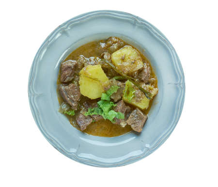 Semur Indonesian stew,  braised in thick brown gravy commonly found in Indonesian cuisine