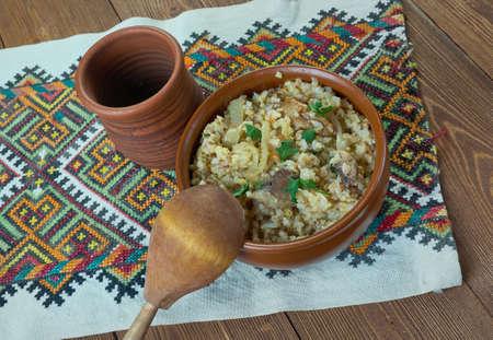 monastic: monastyrskaja kasha - Monastic Lean porridge, Russian traditional dish in Lent