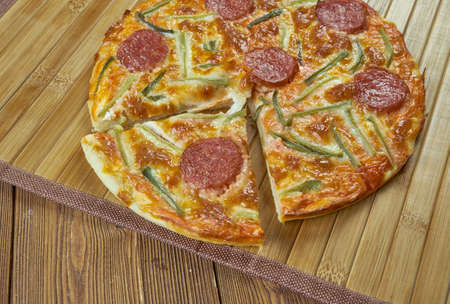 marinara sauce: Pepperoni pizza  Wwth marinara sauce.Hot pizza