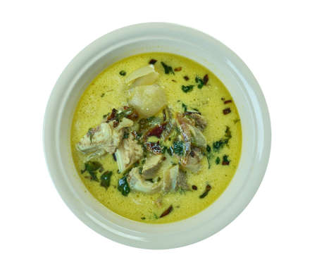 Empal gentong - Indonesia spicy curry-like beef soup originated from Cirebon, West Java.