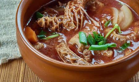 Island Tripe Stew -  popular, every Filipino and Hawaiian Food Restaurants Stock Photo