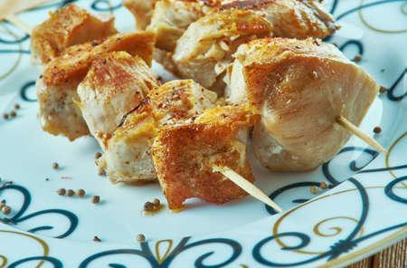 Murg Kababs Mughlai - Mughlai Chicken Kebab.Indian cuisine Stock Photo