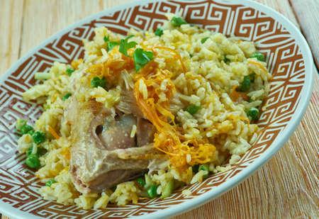 pakistani food: Mughlai Chicken Pulao.north Indian dish.