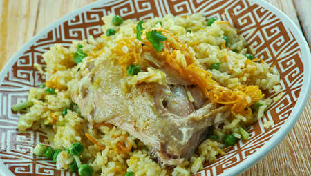 meaty: Mughlai Chicken Pulao.north Indian dish.