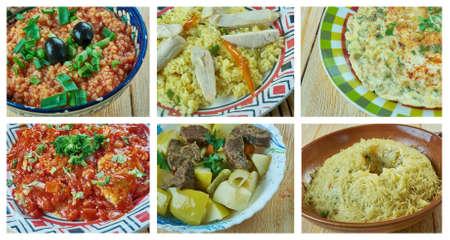 Food set oriental Turkish  cuisine.collage Stok Fotoğraf