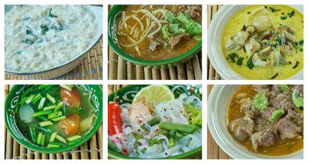 Food set oriental cuisine.collage Stok Fotoğraf