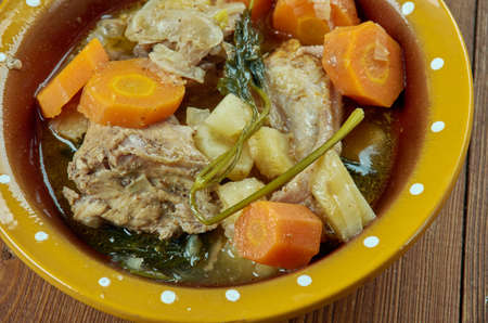 Crock Pot Rabbit Stew -  French Rabbit Stew. Stok Fotoğraf