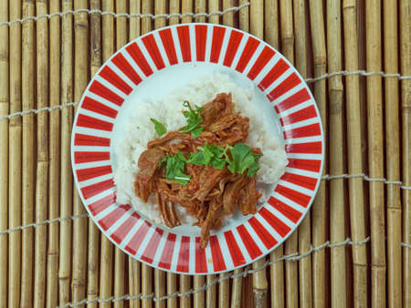 Ropa vieja - the national dishes of Cuba Stock Photo