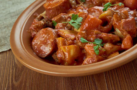 Portuguese-style chicken and chorizo stew