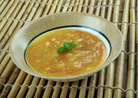 Terbiyeli sehriye chorbasi - Soup with barley noodles.Turkish cuisine