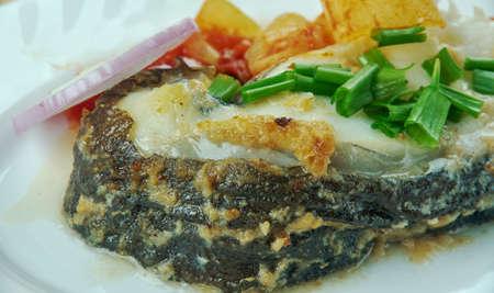 catfish: Pana de somn rasol - Boiled catfish, Romanian style.