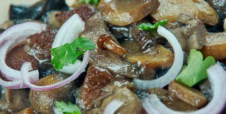 Khoresh-e qarch - Mushroom Iranian Cooking.Persian cuisine