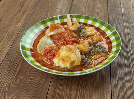 cu: Ghiveci cu peste - Braised fish. Romanian cuisine