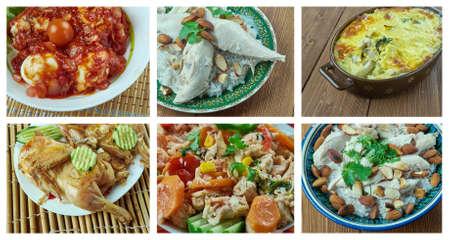 Food set of different chicken meat . collage.  Standard-Bild