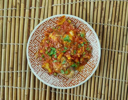 Kerala chicken  - South Indian dish. close up Stock Photo