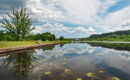 Augustow Canal Poland, Belarus. It is under the protection of UNESCO July 8, 2017