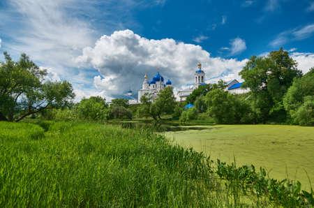 bogolyubovo: Orthodox monastery in the village of Bogolyubovo,Vladimir oblast. Russia Stock Photo