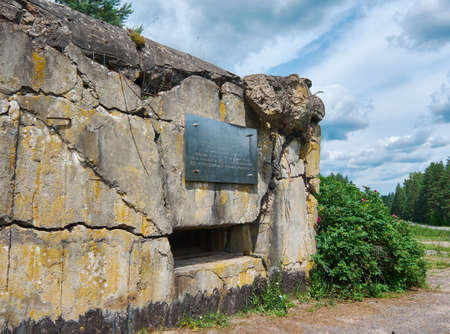 Soviet Army Abandoned military facility World War II Pillbox- the Second World War, Belarus. July 8, 2017 版權商用圖片