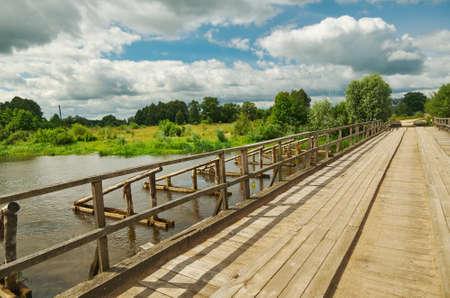 River Neman at summer day, Belarus.