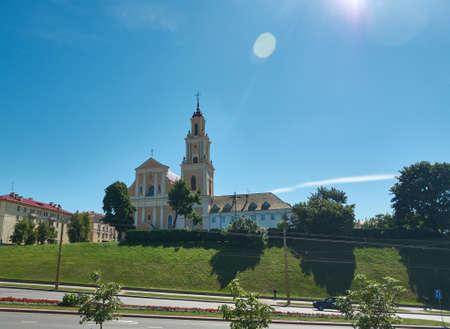 Catholic church and the Monastery of Bernardine in Grodno. Belarus