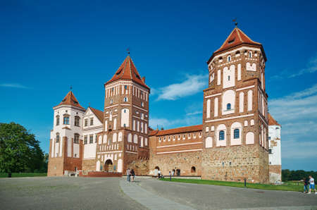 Mir Castle Complex.Europe, Belarus. July 1, 2017