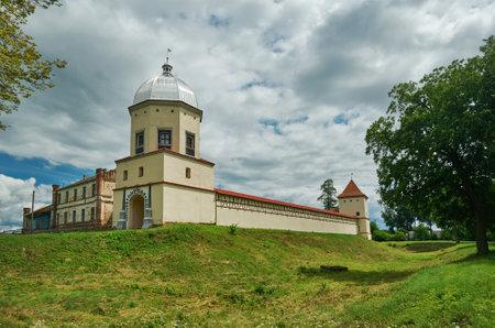 Lubchan Castle, residential castle of Radziwill family on Neman River Lubcha,Belarus.